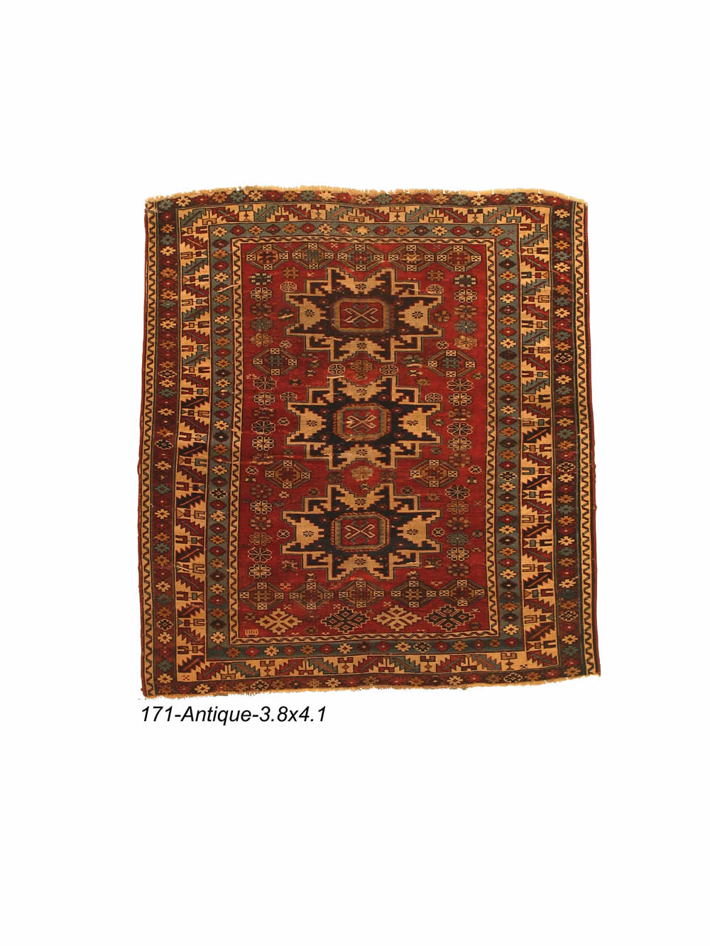 Antique Persian Kazak Rug