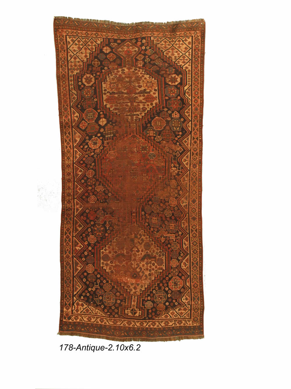 Antique Persian Qashqai Rug
