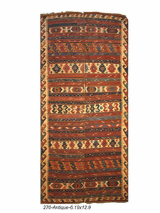 Antique Persian Azarbaijan Kilim