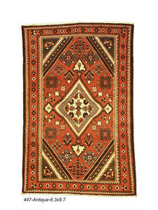 Antique Persian Bakhtiari Rug