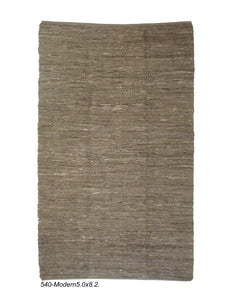 Modern Leather Knitted Rug