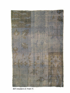 Modern Indian Patchwork Rug