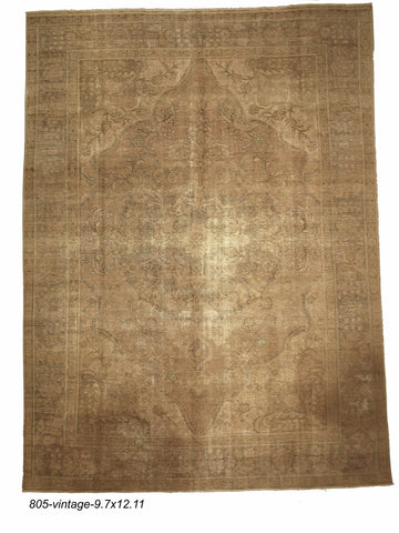 Vintage Indian Distressed Rug