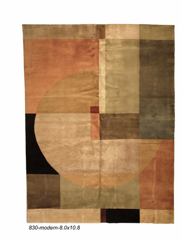 Modern Indian Abstract Rug