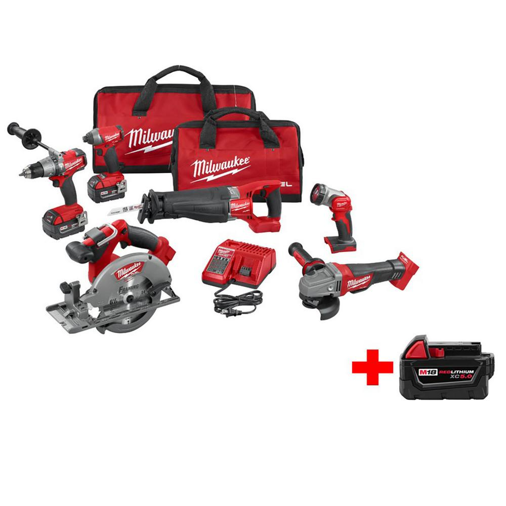 Milwaukee M18 Fuel 18v Brushless Big Boy Combo Kit 12 Pcs Total Usa Tools More
