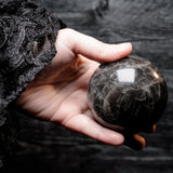 Large Black Moonstone Globe #1