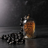 Transformation Butterfly Wing And Labradorite Bell Jar Necklace