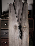Black Kyanite And Obsidian Talisman