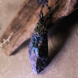 Handmade Chalcopyrite And Lapis Lazuli Necklace (one of a kind)