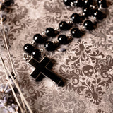 Black Cross Hidden Compartment Urn Necklace