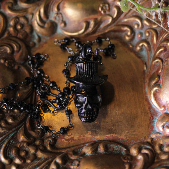 Baron Skull Perfume Or Memorial Necklace
