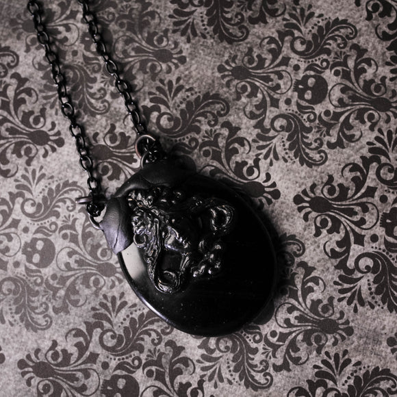 Obsidian Goddess Statement Necklace (One Of A Kind)