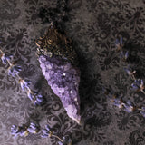 Amethyst Quartz Cluster Statement Amulet Necklace (One Of A Kind)