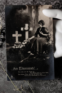Victorian German Mourning Postcard #3