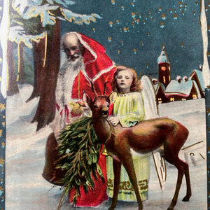 Original Antique German Christmas Postcard