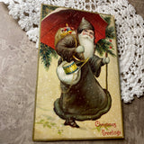Original Antique German Santa Claus Postcard