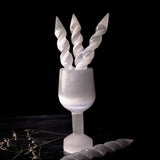 Double Terminated Unicorn Selenite Wand
