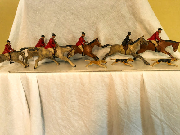 wood fox hunt scene