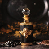 Gothic Angel Embellished Black Perfume Bottle