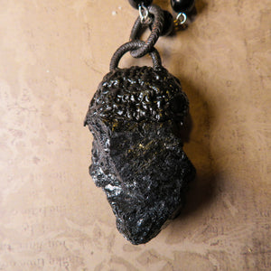 Black Tourmaline Necklace (one of a kind)