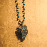Handmade Chalcopyrite And Blue Chalcedony Necklace (one of a kind)