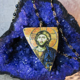 Orthodox Christ Shipwreck Pottery Pendant Necklace