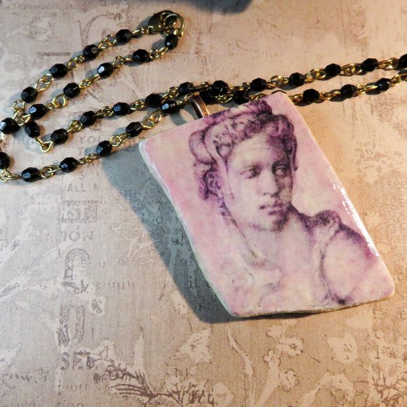 Cleopatra Shipwreck Pottery Pendant Necklace