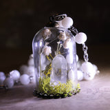 Quartz Crystal Terrarium Bell Jar Necklace (One Of A Kind)