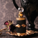 Victorian Hands Embellished Perfume Bottle (Black Version)