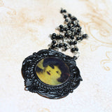 Hand Colored Portrait Victorian Inspired Necklace