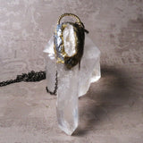 Handmade Huge Double Quartz Crystal Statement Necklace (one of a kind)