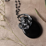 Obsidian And Spinel Moon Goddess Statement Necklace (One Of A Kind)