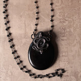 Obsidian And Spinel Snake Statement Necklace (One Of A Kind)