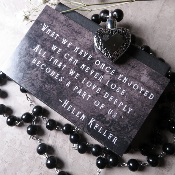 Pet Memorial Cremation Urn Rosary Necklace