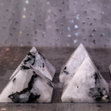 Mini Rainbow Moonstone Pyramids