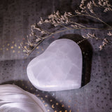 Large Selenite Heart Charging Plate