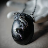 Shungite Snake Statement Amulet Necklace (One Of A Kind)