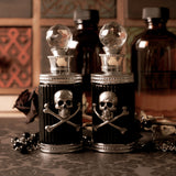 Skull And Crossbones Embellished Black Perfume Bottle
