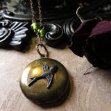 Victorian Swallow Locket Necklace (SALE -One Left)