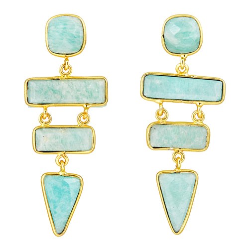 Ascending Earrings Amazonite