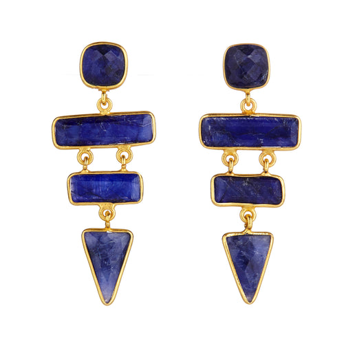 Ascending Earrings Sapphire