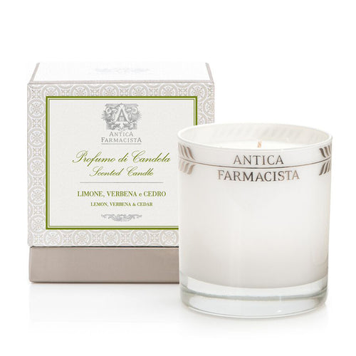 Lemon, Verbena & Cedar 9oz Round Candle