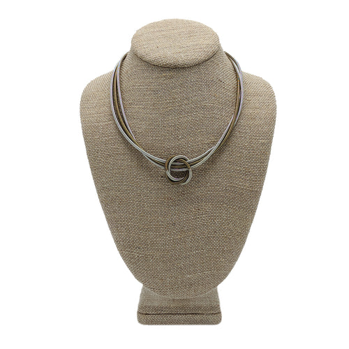 Piano Wire Floating Knot Necklace