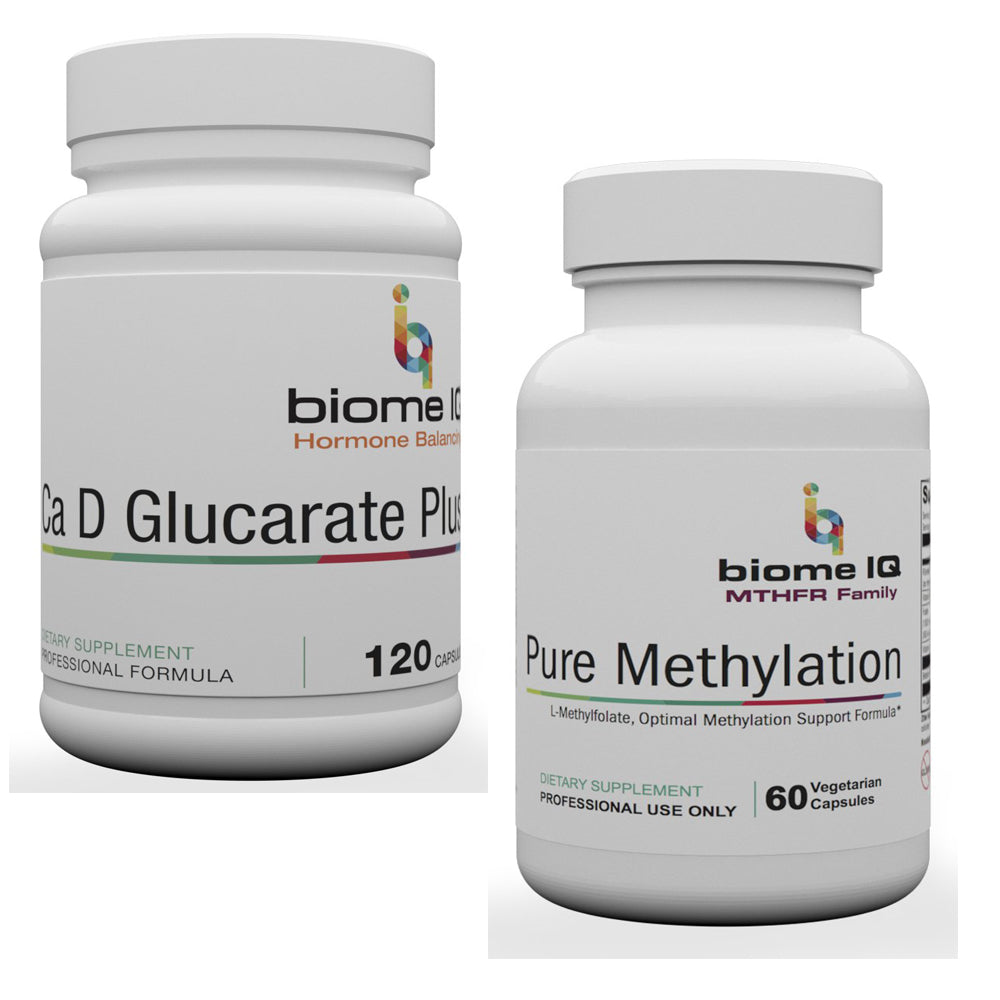 BiomeIQ MTHFR Supplements - Pure Methylation & Calcium D PLUS
