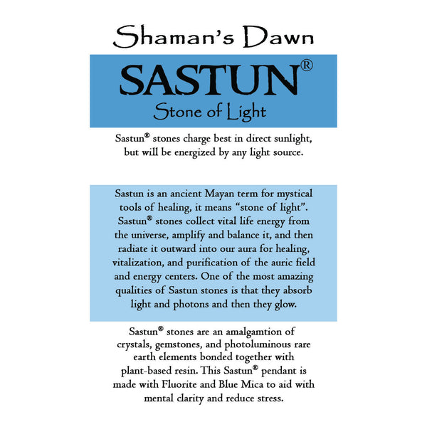 Sastun®- Mental Focus- Fluorite in Sterling Silver