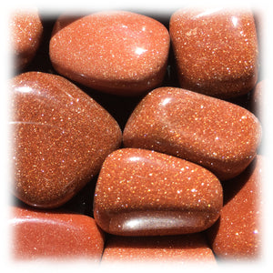 Tumbled Goldstone