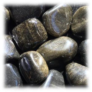 Tumbled Sheen Obsidian