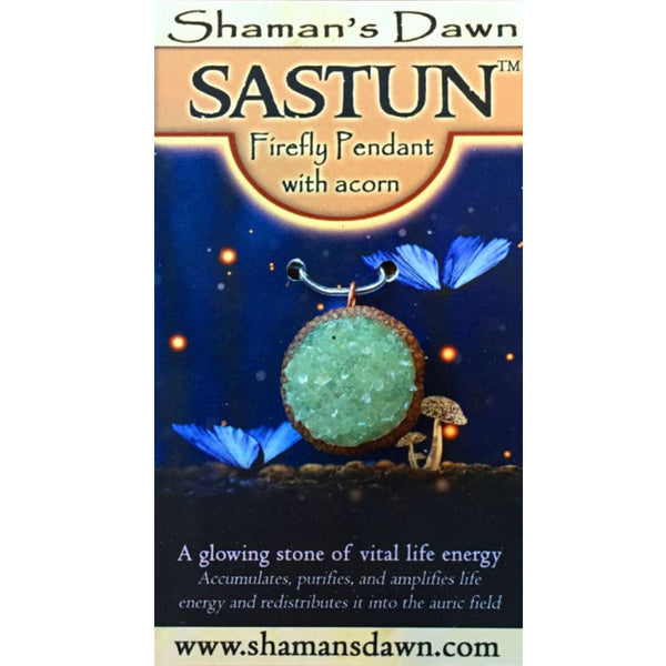 Sastun®- Stone of Light- Firefly Pendant with Snowflake Obsidian