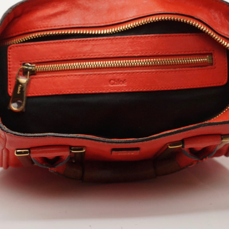 Pre-loved authentic Chloe Red Leather Crossbody Bag sale at jebwa
