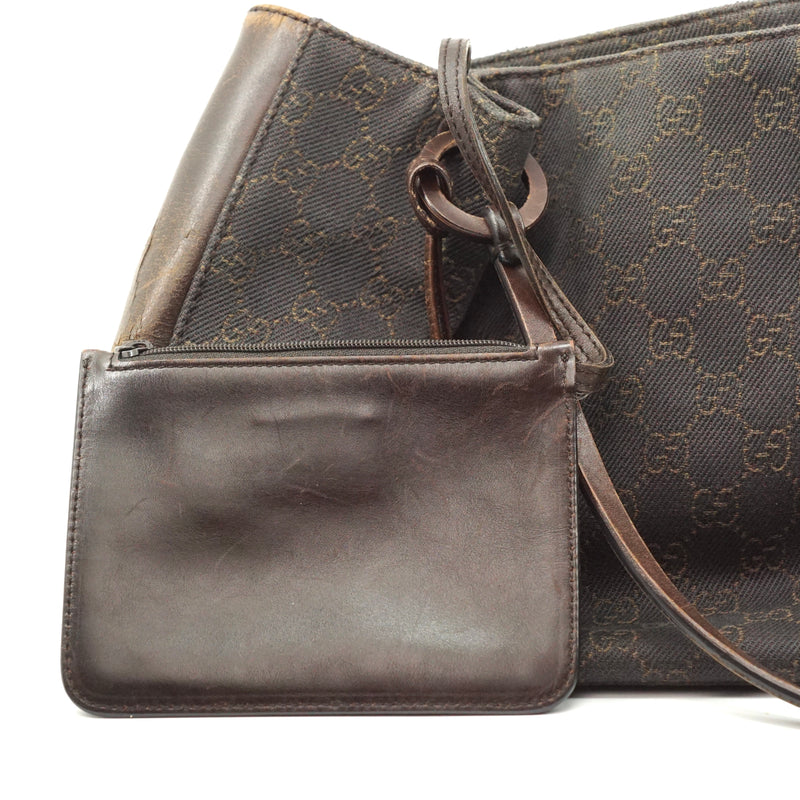 Pre-loved authentic Gucci Gg Shoulder Bag Brown Canvas sale at jebwa.